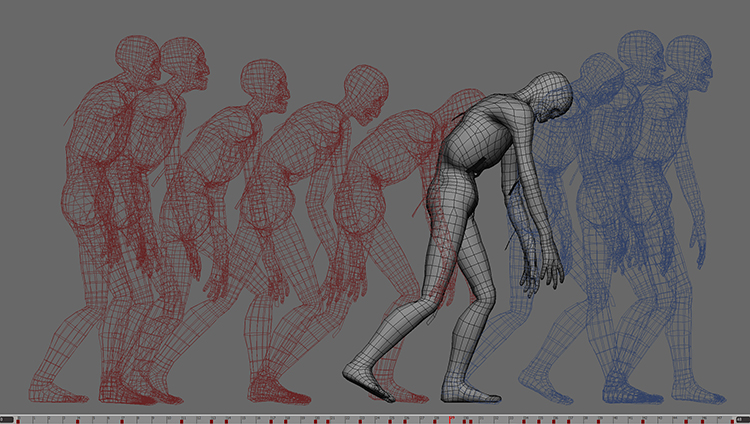 Mummy walk key poses